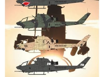 Hyperscale Review AH-1F Last of the Army Cobras Decals 1/72, 1/48