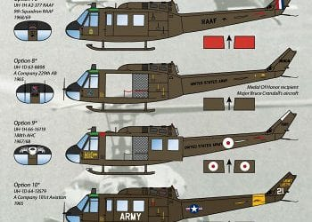 Modeling Madness reviews Werner's Wings Decals 48-15: UH-1D/H Stencils