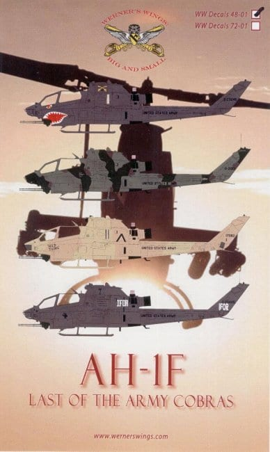 ARC Review of AH-1F-Last of the Army Cobra Decals 48-01