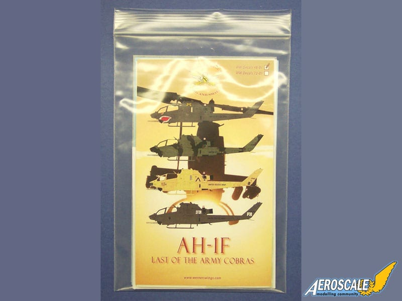 Aeroscale review of AH-1F Last of the Army Cobras decals & DVD package