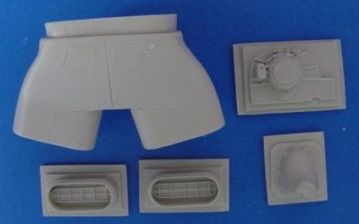 ARC Review 1/35 AH-1W Turned Exhausts Conversion set Product # 35-07 for MPC/APV Club kit