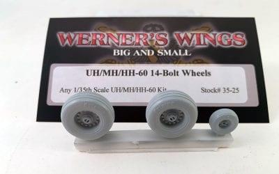 September 2020: New Resin Stock #35-25 UH/MH/HH-60 14-Bolt Wheels